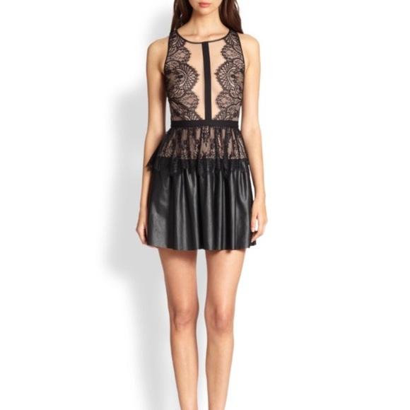 "2f397569d02 BCBGMAXAZRIA ""Layton"" Faux Leather Dress"